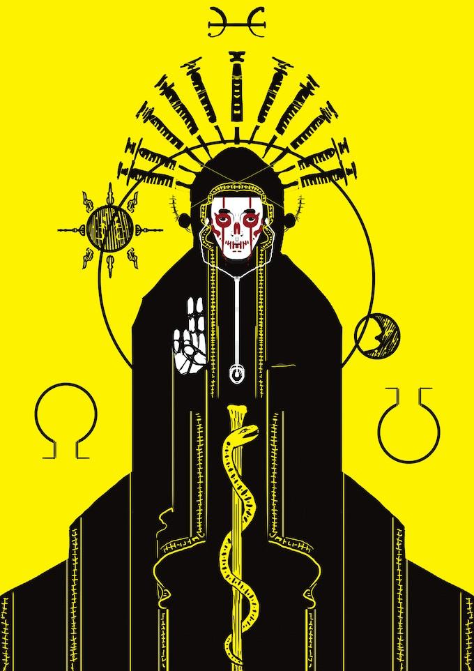 Pestilence, artwork for issue 11 of Knock Knock