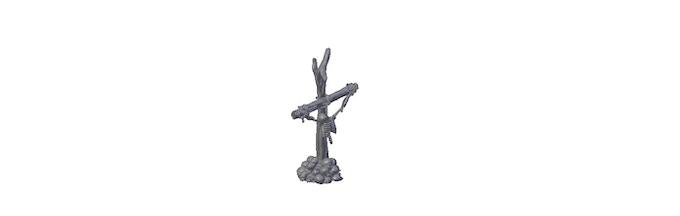 Skeleton banner pole (usable as scatter terrain)