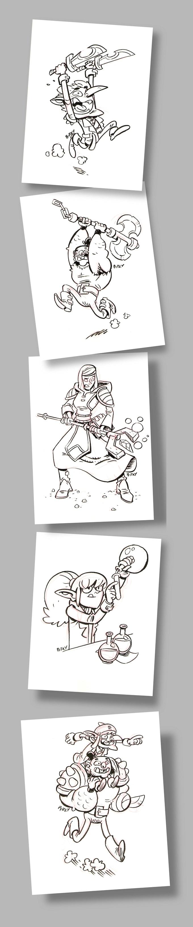 Some sketch page reward examples.