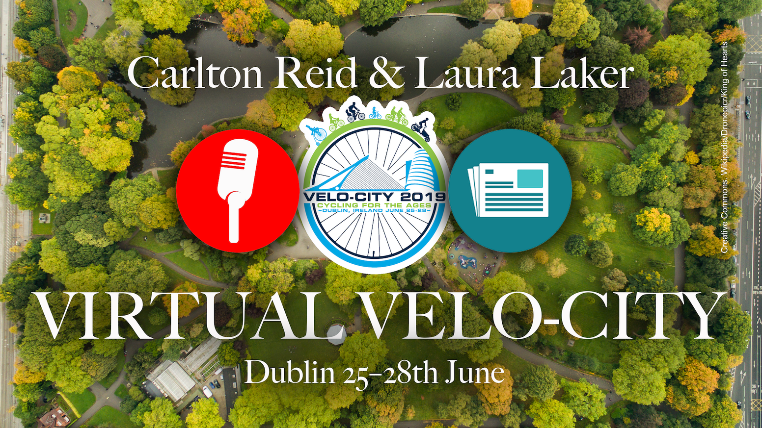 Exclusive content sent only to project backers by Carlton Reid & Laura Laker from the Velo-city global cycling summit in Dublin.