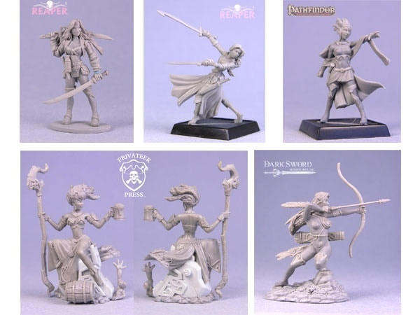 Miniatures sculpted by Patrick Keith