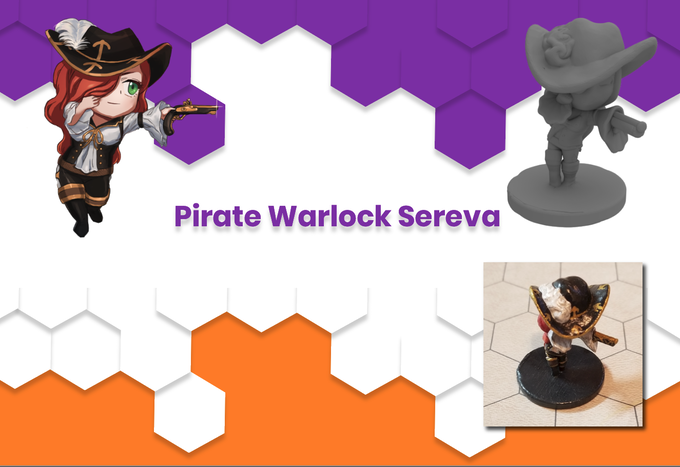 Anime Mini Pirate Warlock Sereva