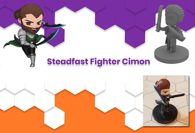 Anime Mini Steadfast Fighter Cimon
