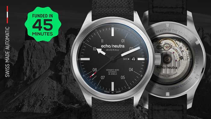 Powered by the Swiss STP 3-13 automatic movement. Built to last at an affordable price.