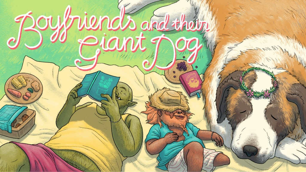 Boyfriends & Their Giant Dog - Graphic Novel project video thumbnail