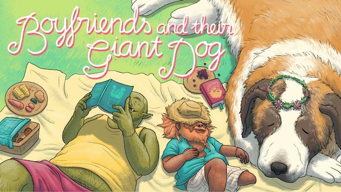 Boyfriends & Their Giant Dog - Graphic Novel by Hien Pham