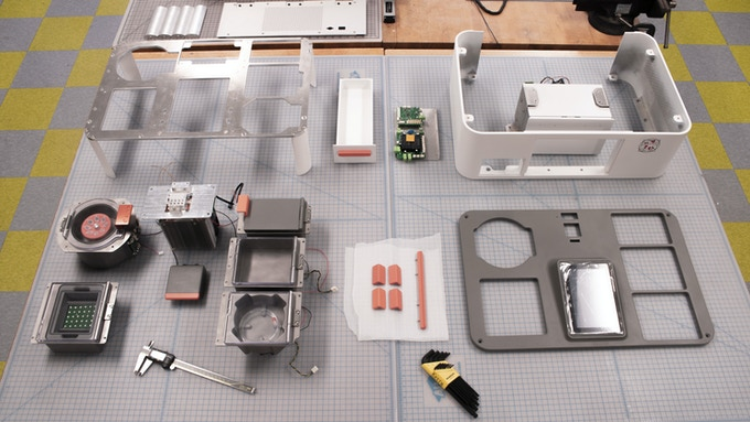 Bird's eye view of all of the components