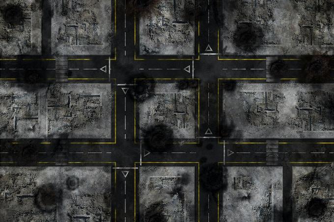 Battle mat : Neutral Road