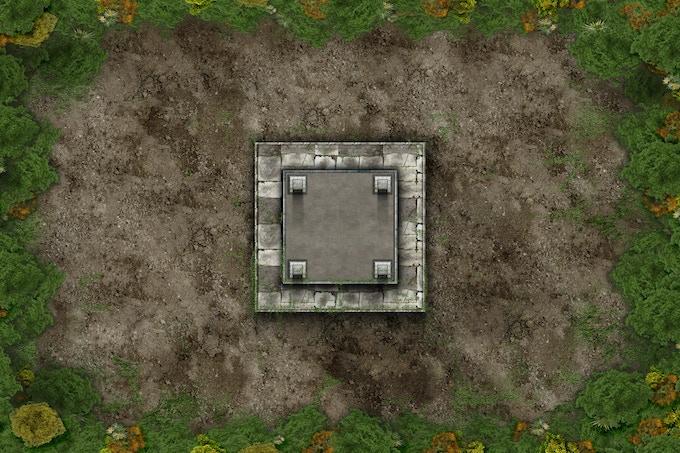 Battle mat : Old Temple