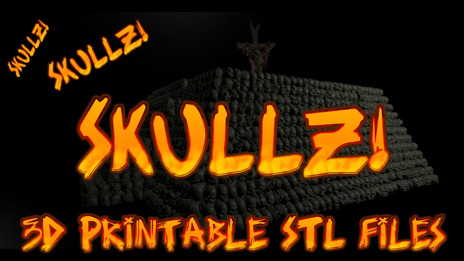 3d Printable Skull themed terrain scaled for 28mm wargaming. SKULLZ SKULLZ SKULLZ!