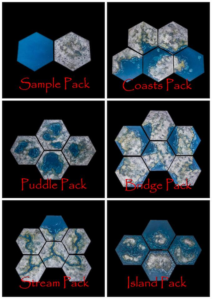 TerraScapes: Hextiles: Hobby Base Set