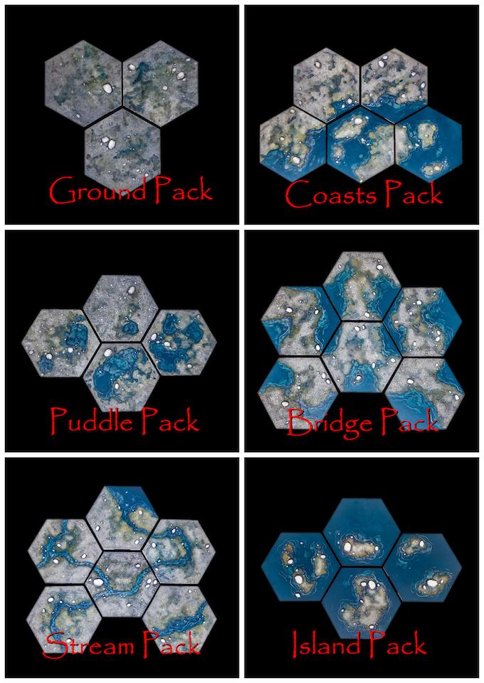 TerraScapes: Hextiles: Pebble Base Set