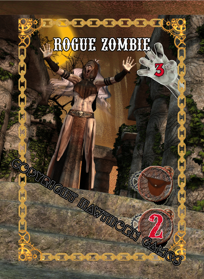 Zombie Monster Card