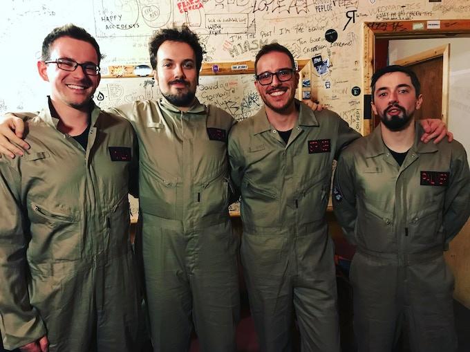 Fishy, Teo, Chris & Alex, 'Stringer Things' show 2017.