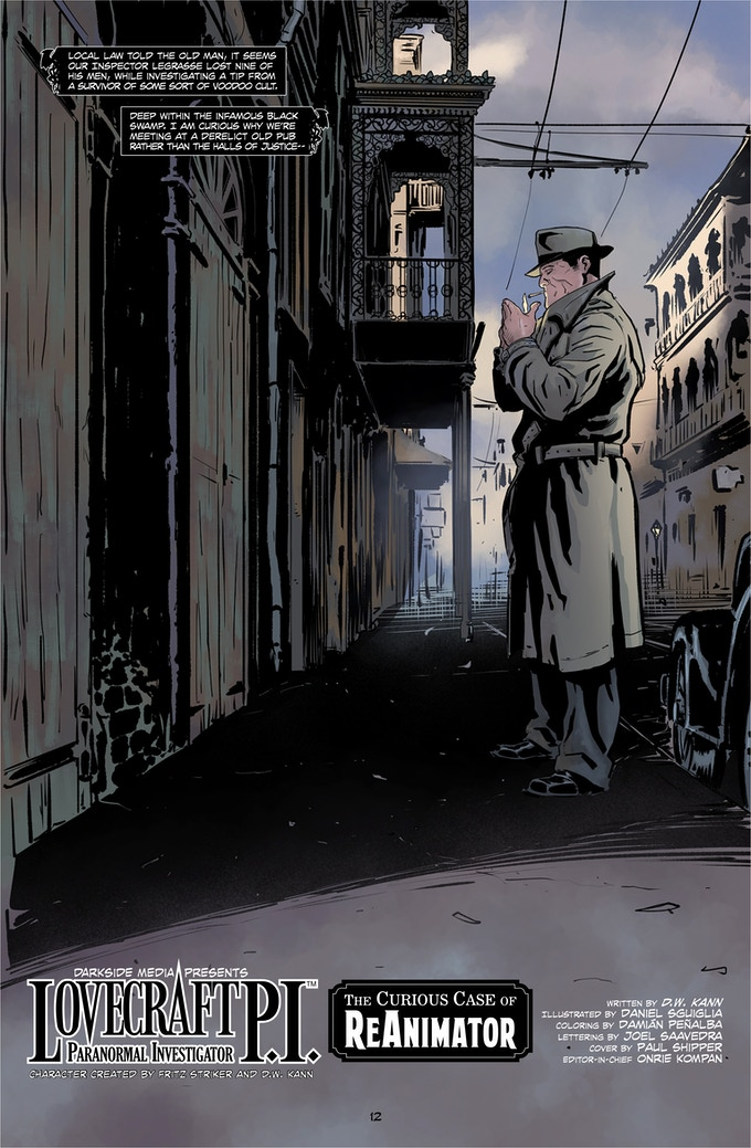 Det. Ward Lovecraft arrives at the shuttered 'Old Absinthe House' in the French Quarter, New Orleans.