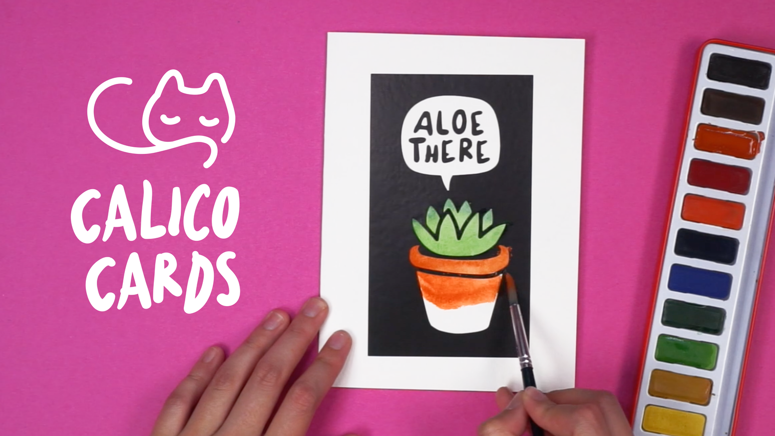 Calico Cards: The Watercolor-Stencil Card-Making Kit by