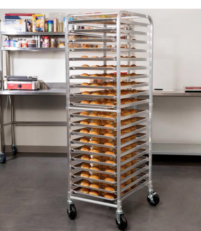 20 tier pan rack on wheels