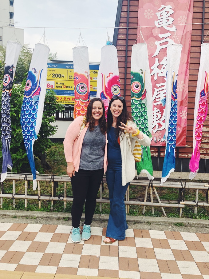 Jackie and Audrey adventuring in Japan