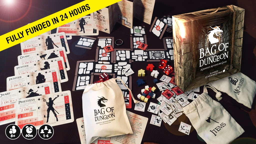 Bag of Dungeon - a mini-fantasy adventure game in a bag project video thumbnail