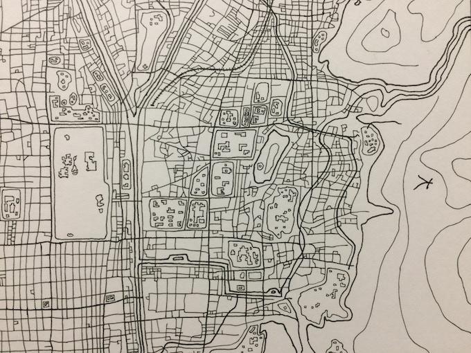 MIYAKO: My Hand Drawn Ink and Watercolor Street Map of Kyoto ...