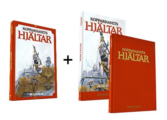 Kopparhavets hjältar i standardutgåva samt i kodexutgåva.