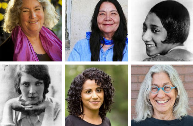 CHOICE WORDS contributors Starhawk, Leslie Marmon Silko. Georgia Douglas Johnson, Jean Rhys, Amy Alvarez, and Judith Arcana