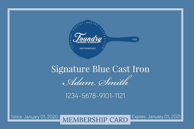Signature Blue Cast Iron Membership Card