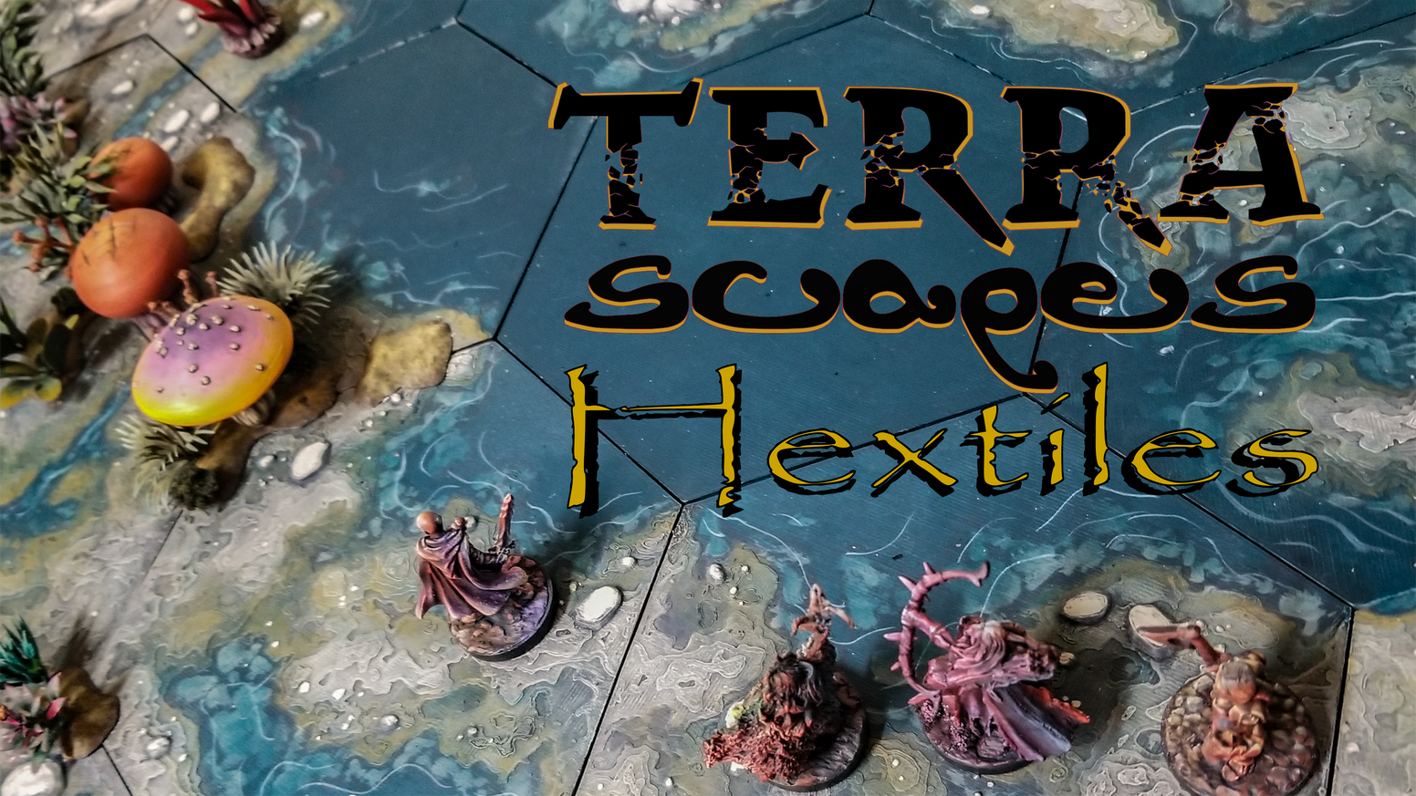 TerraScapes: Hextiles is a 3d-printable modular flat terrain system for tabletop games of any genre!  They are the every terrain!