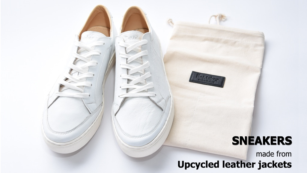 Leather Sneakers from Upcycled Leather Jackets project video thumbnail