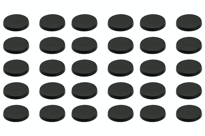 Thirty 32 mm magnetic bases
