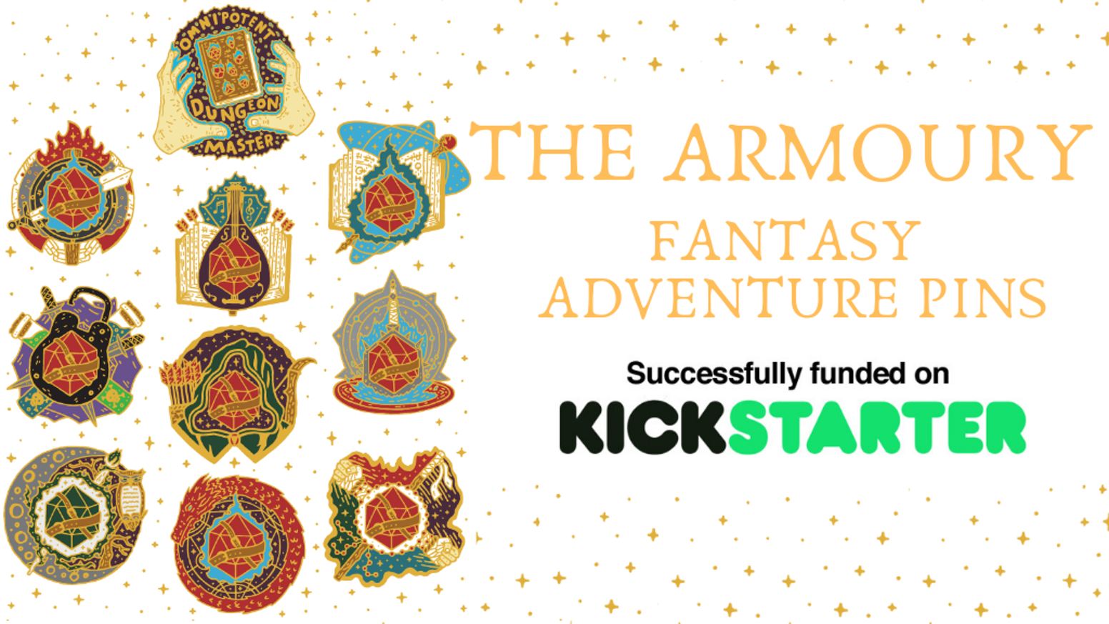 Collection of Fantastical fantasy based class pins, for your favourite RPG or Movie.  Wear them, pin them & collect them!