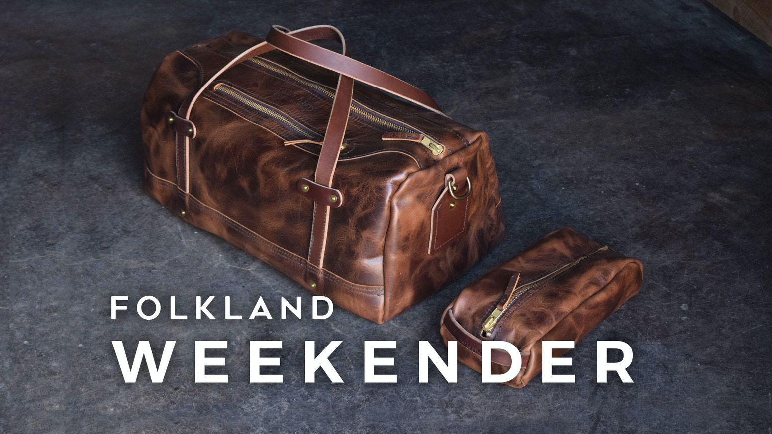 The Folkland Weekender Duffel is simple in form & function, and built by us in the PNW USA with classic & durable canvas and leather.