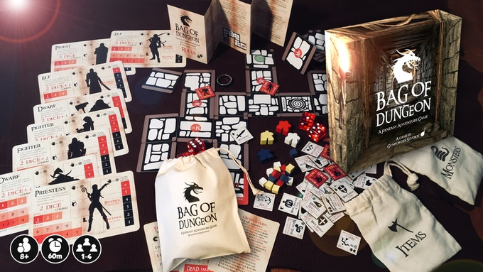 Bag of Dungeon: a mini-roleplaying adventure in a bag!
