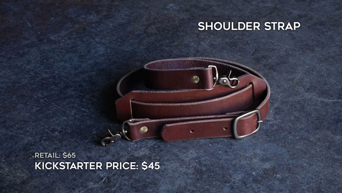 Add-on Shoulder Strap. You can add this to your order during the campaign fulfillment stage.