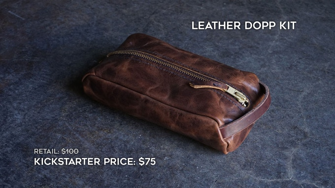 Add-on Dopp Kit. You can add this to your order during the campaign fulfillment stage.