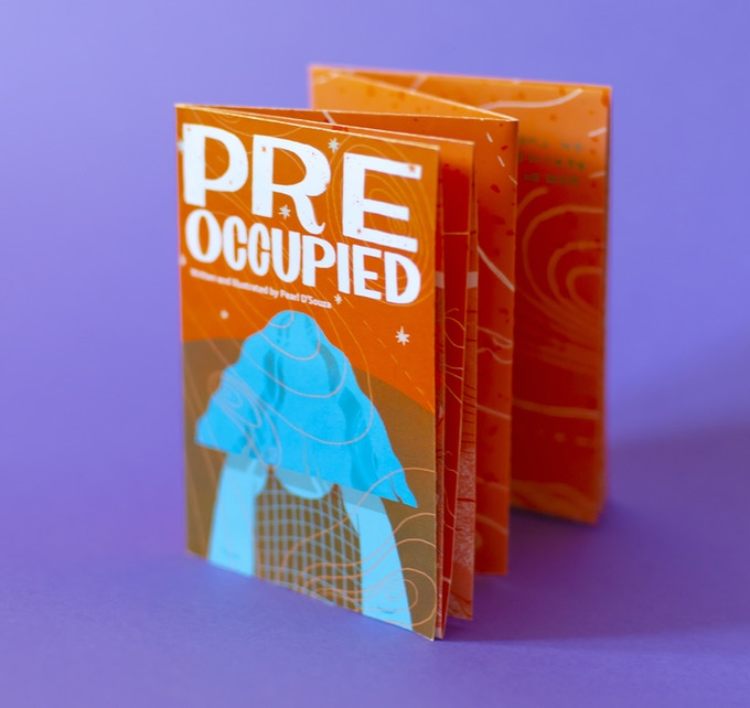 Pre Occupied Risograph Poster Zine, adapted by Pearl D'Souza for Bystander Anthology