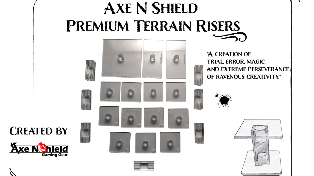 Axe N Shield Premium Terrain Risers: Elevate your game! project video thumbnail