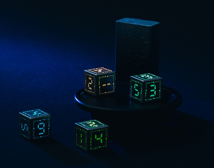 Metal Digital Dice Set - picture
