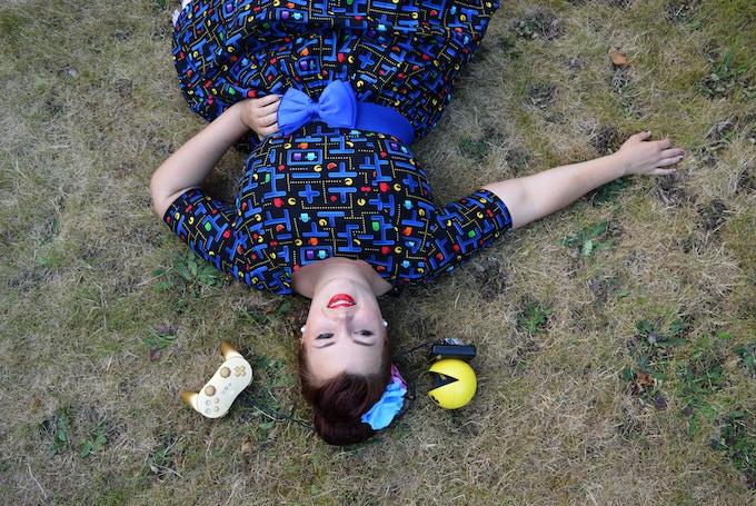 Fuller Figure Fuller Bust modelling the dress