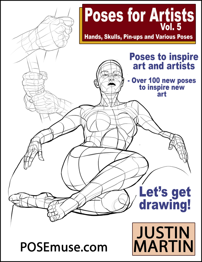 Draft Poses for Artists Volume Five Book Cover! We are hoping to publish in July 2019