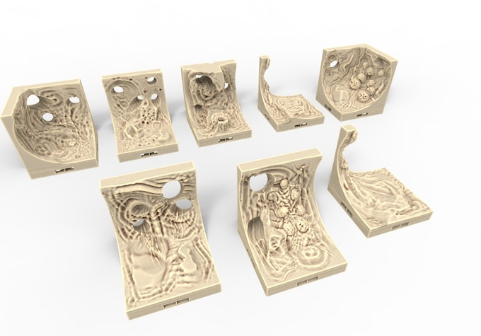 Lavatubes Dragon Lock Tiles.