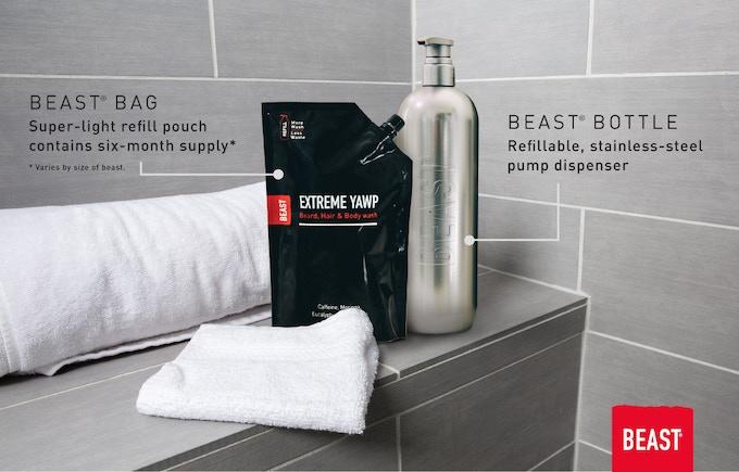Beast® Bottle + Refillable Pouch
