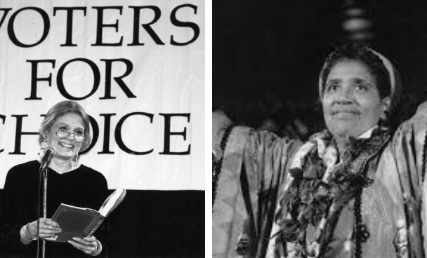 CHOICE WORDS contributors Gloria Steinem and Audre Lorde