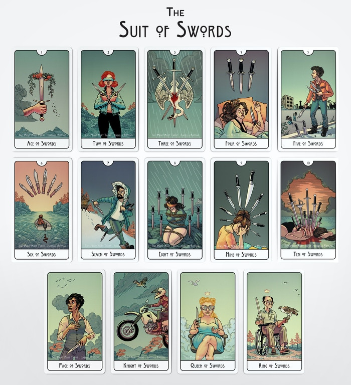 Mock-up of the Suit of Swords