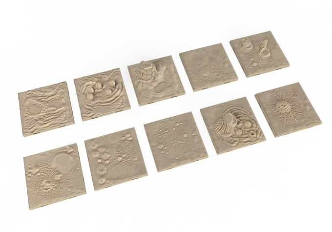 Caverns Dragon Lock Tiles.