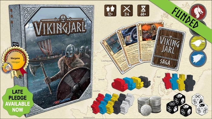 VikingJarl is a fast-moving, historical strategy game about Vikings and Norse Mythology. Pillage, Trade, Conquer, and claim the Throne! Late pledge available now!