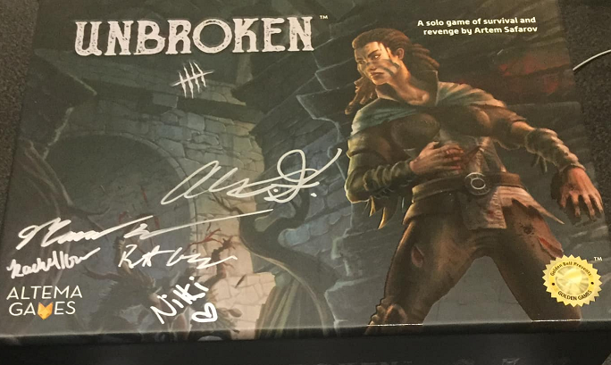 Here's an example of one backer's signed copy