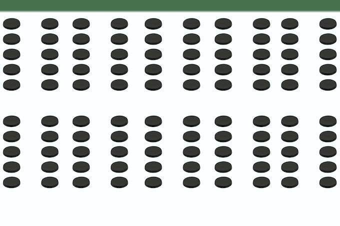 One Hundred 32 mm Magnetic Bases