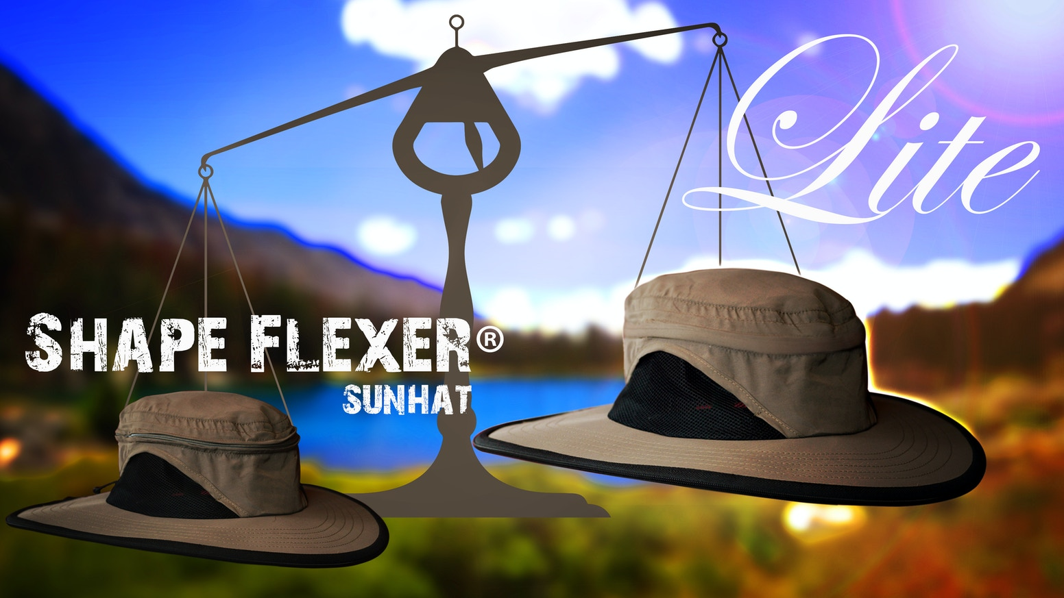 A light weight version of the Shape Flexer: a bendable shapeable crushable portable machine washable waterproof wind resistant Sun Hat.