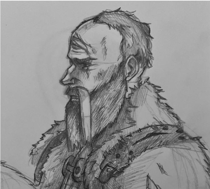 The Brigand (early sketch) looks forward to bringing the pain to the monsters of the Dark.